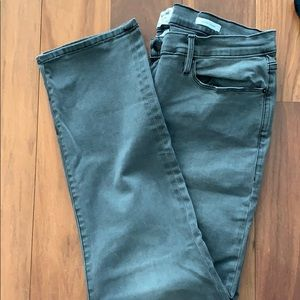 Frame Womens 34 le high straight jeans, gray
